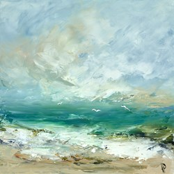 And I Have Loved The Ocean by Hudson Parkin - Original Painting on Box Canvas sized 20x20 inches. Available from Whitewall Galleries
